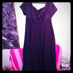 👛NEW👛PLUS VTG beautiful dark purple formal gown